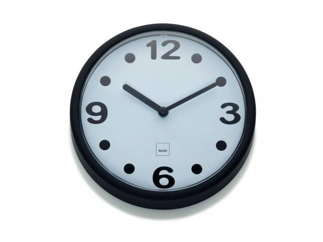 Nástěnné hodiny Genua černé - Kela