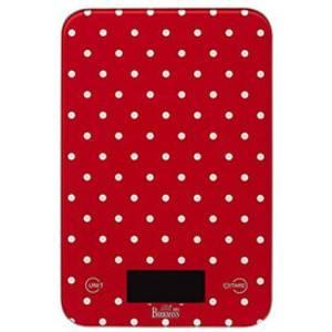 Digitální váha červená s puntíky - Birkmann