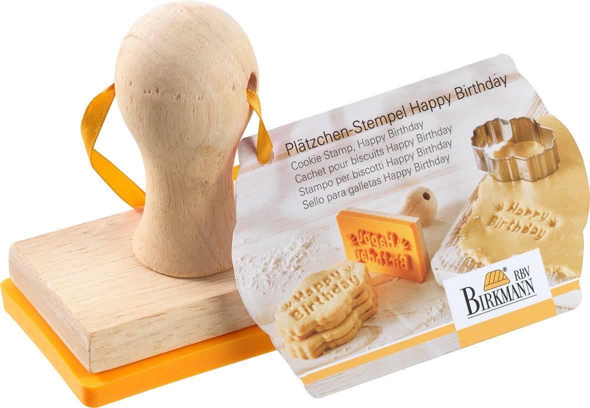 Razítko na sušenky Happy Birthday 7,5x4,7cm - Birkmann