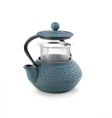 Litinová konvička na čaj modrá Fundido 300ml - Ibili
