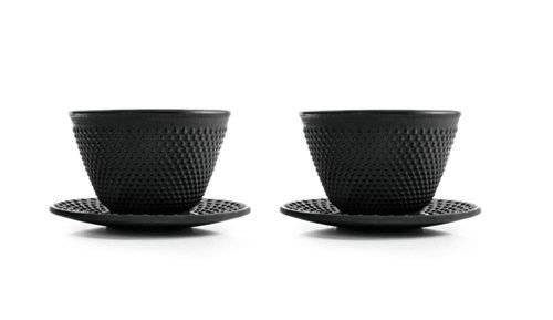 Luxusní sada dvou černých šálků 120ml - Ibili