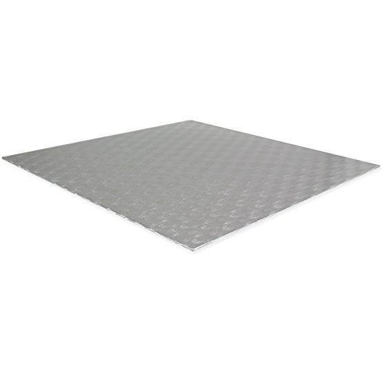 Fotografie Podložka dortová stříbrná - čtverec 20,3x20,3cm - PME