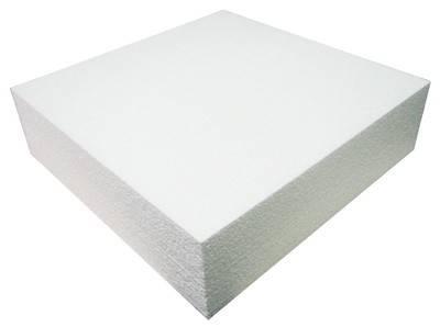 Polystyrenová maketa na dort čtverec 15x15x7,5 - Decora