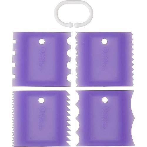 Plastové stěrky na dort 4ks - Wilton
