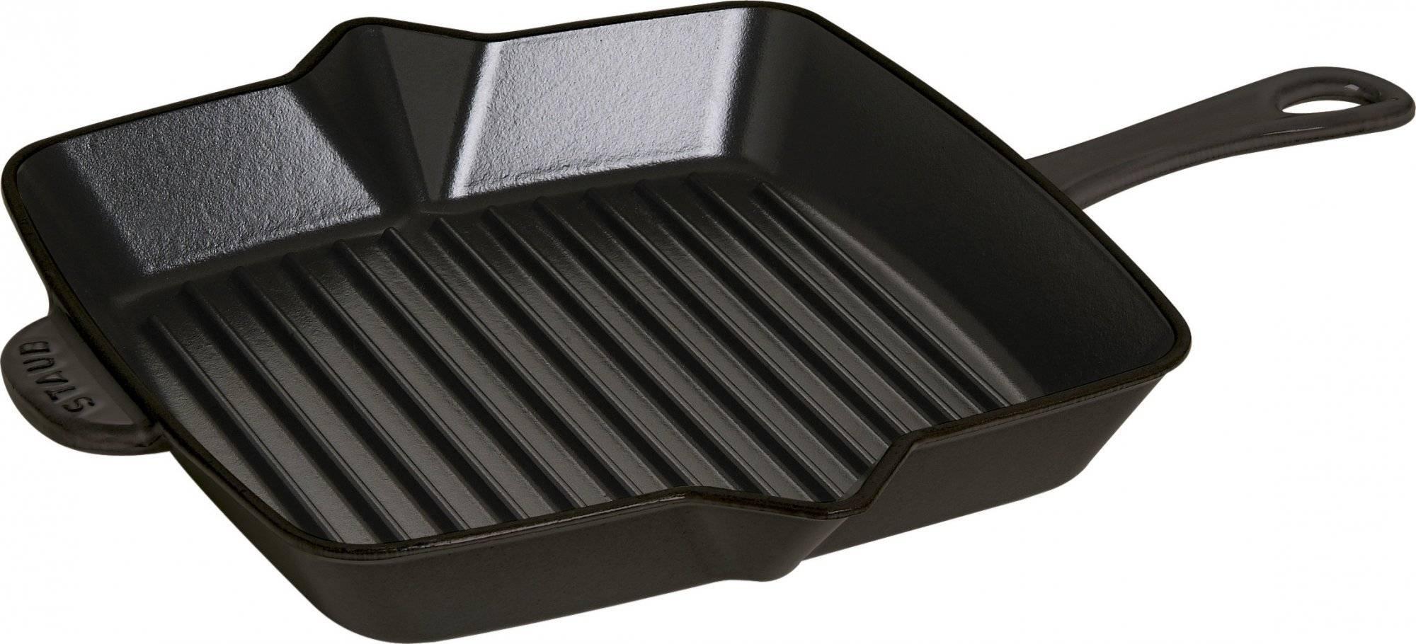 STAUB Americká grilovací pánev 26x26 cm černá + dárek k nákupu