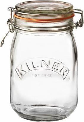 zavařovací sklenice s klipem kulatá 1l 0025.491 Kilner