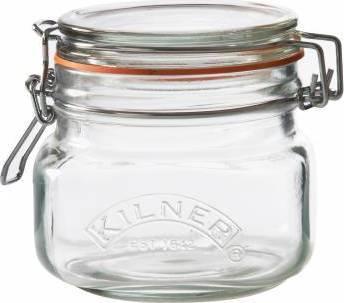zavařovací sklenice s klipem hranatá 0,5l 0025.510 Kilner
