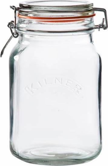 zavařovací sklenice s klipem hranatá 1,5l 0025.512 Kilner