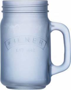 džbánek z mléčného sklad 0,4l modrý 0025.848 Kilner