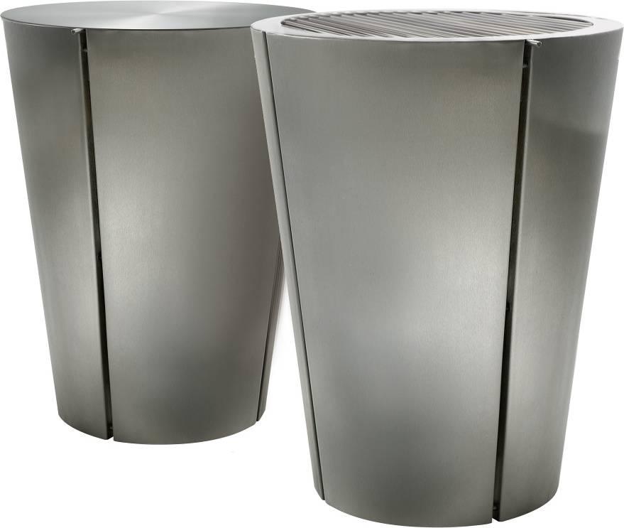 Multifunkční gril z masivní nerezové oceli Charcoal O 49 cm, nerez, Eva Solo