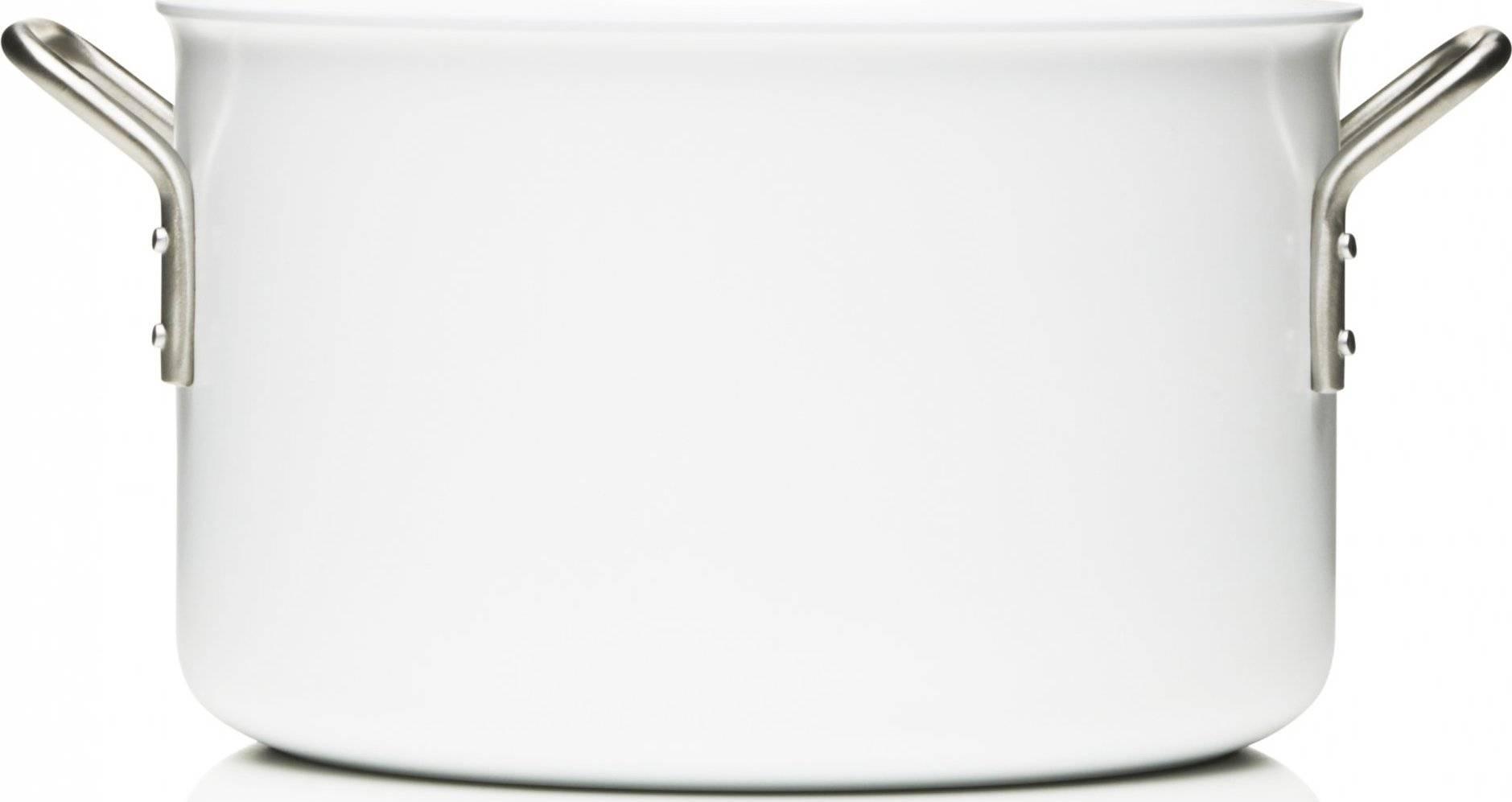 Kastrol s keramickým povrchem 24 cm, 7,0 l, bílá, 256670 eva solo