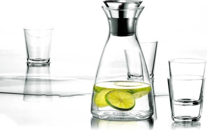 Set Karafa s drip-free okrajem + 4 sklenice, čirá, 567460 eva solo