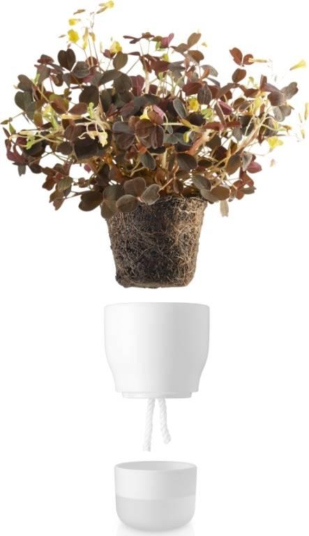 Eva Solo Samozavlažovací keramický květináč křídově bílý 9 cm