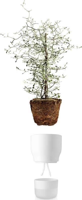 Eva Solo Samozavlažovací keramický květináč křídově bílý 13 cm