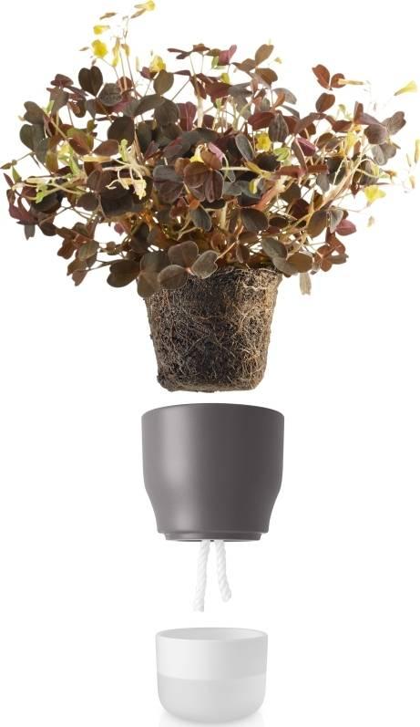 Eva Solo Samozavlažovací keramický květináč šedý 13 cm