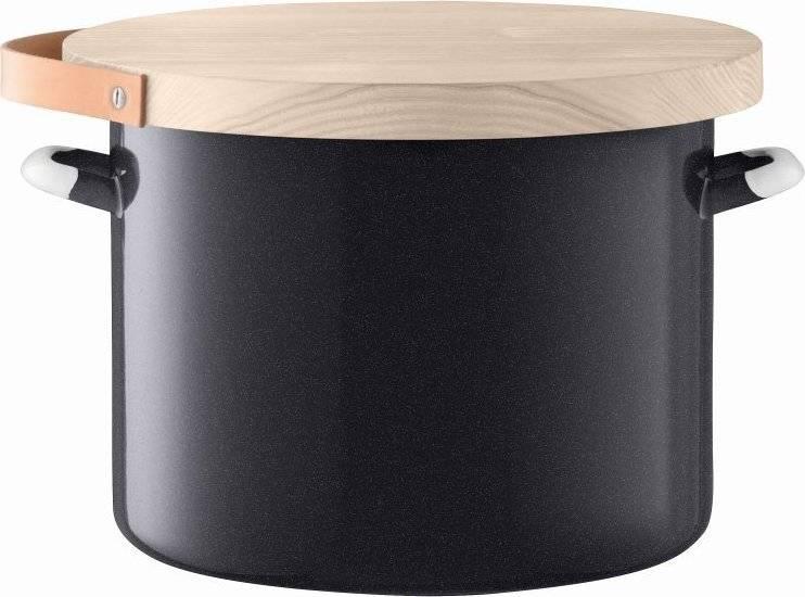 Utility chlebník  & jasanové prkénko pr.31cm/14L pepř.černá, LSA E003-31-002 LSA International