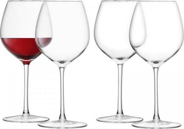 LSA Wine sklenice na červené víno, 400ml, set 4ks čiré, Handmade G1152-14-301 LSA International