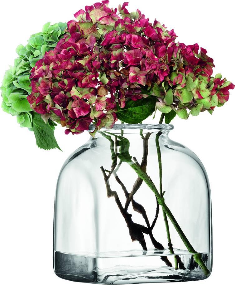 LSA váza skleněná Umberto, 24 cm, čirá, Handmade G297-24-301 LSA International