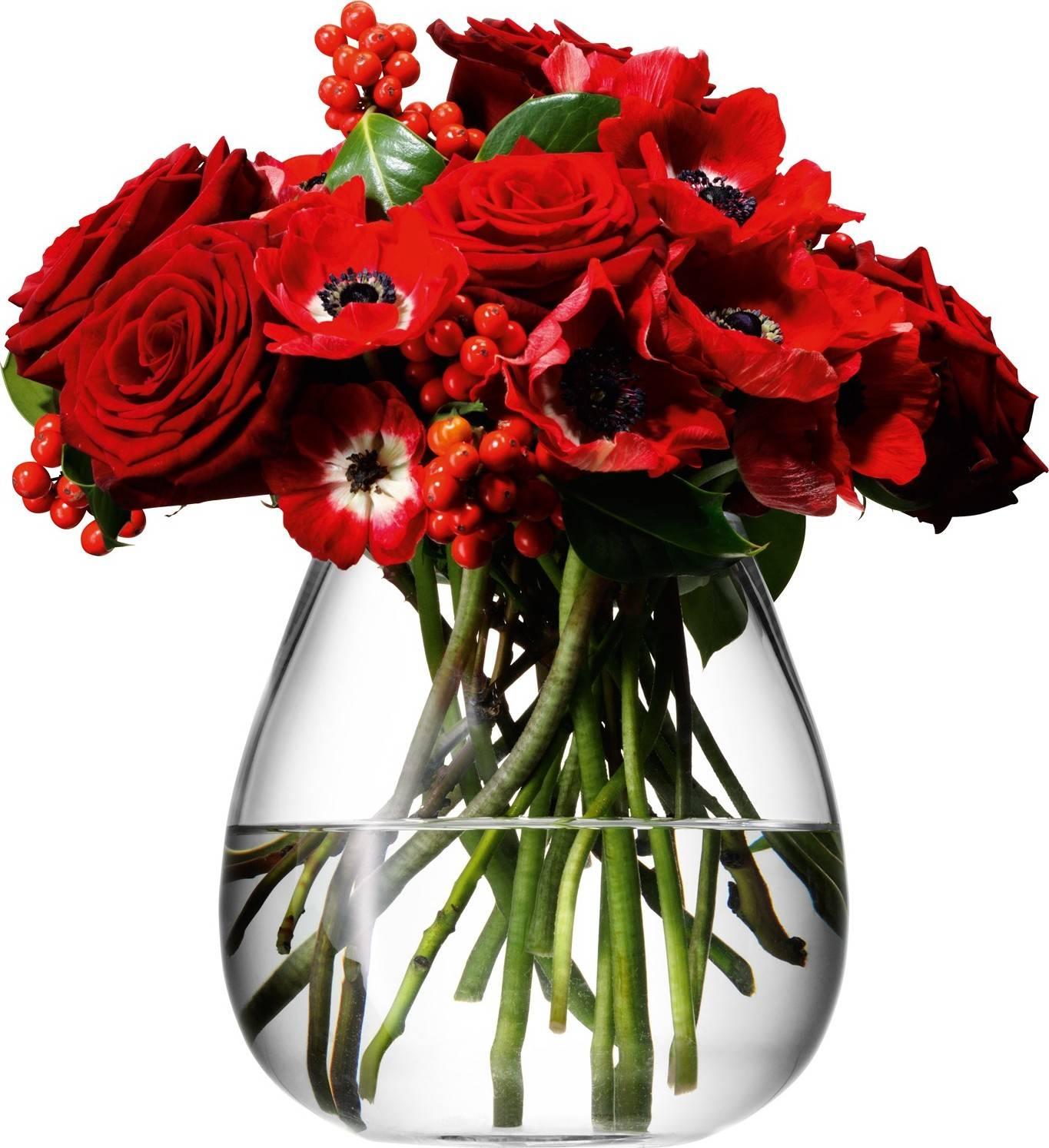 LSA Flower skleněná váza stolní, 17cm, čirá, Handmade G597-17-301 LSA International