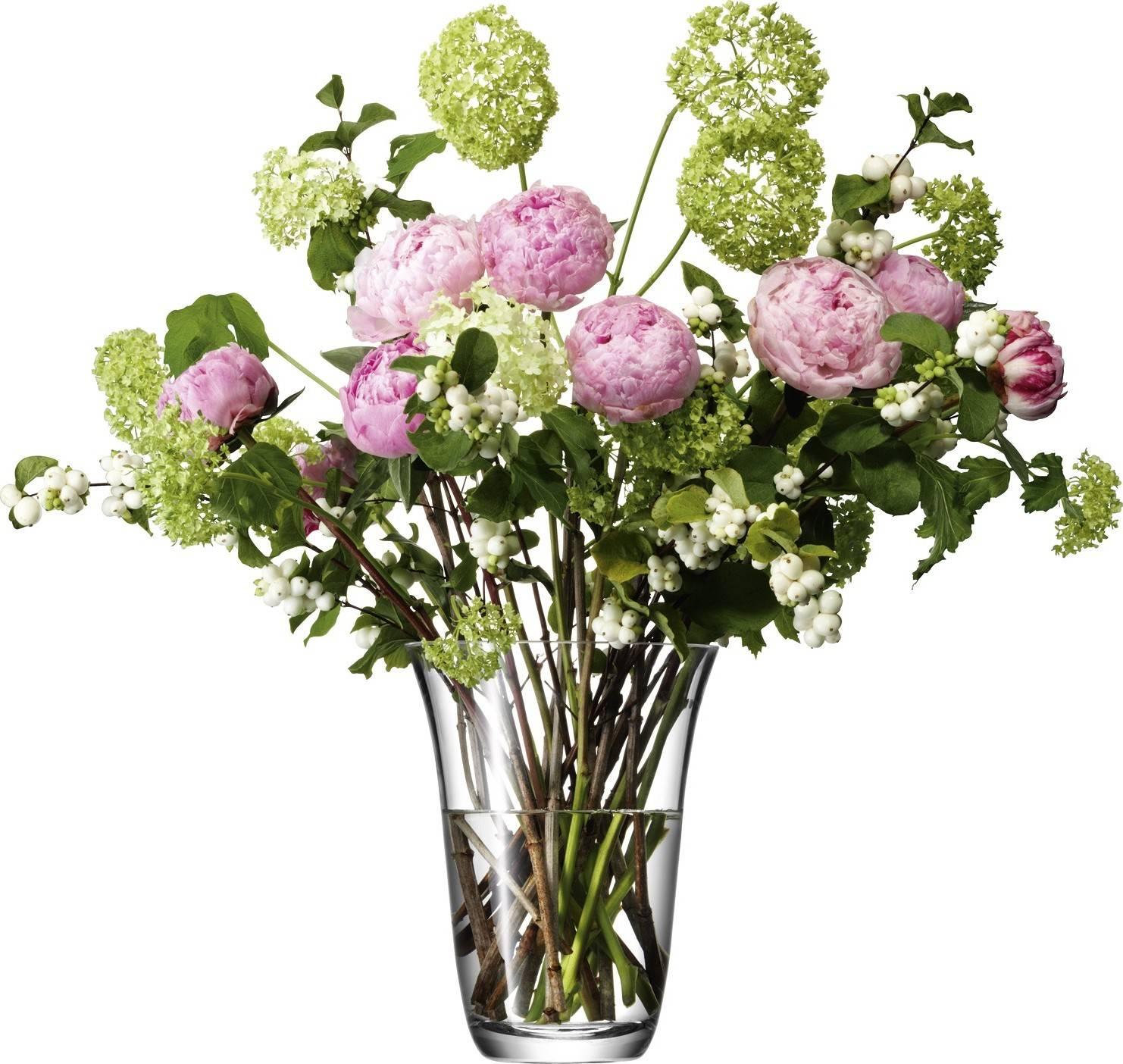 LSA Flower skleněná  váza otevřená, 23cm, čirá, Handmade G621-23-301 LSA International