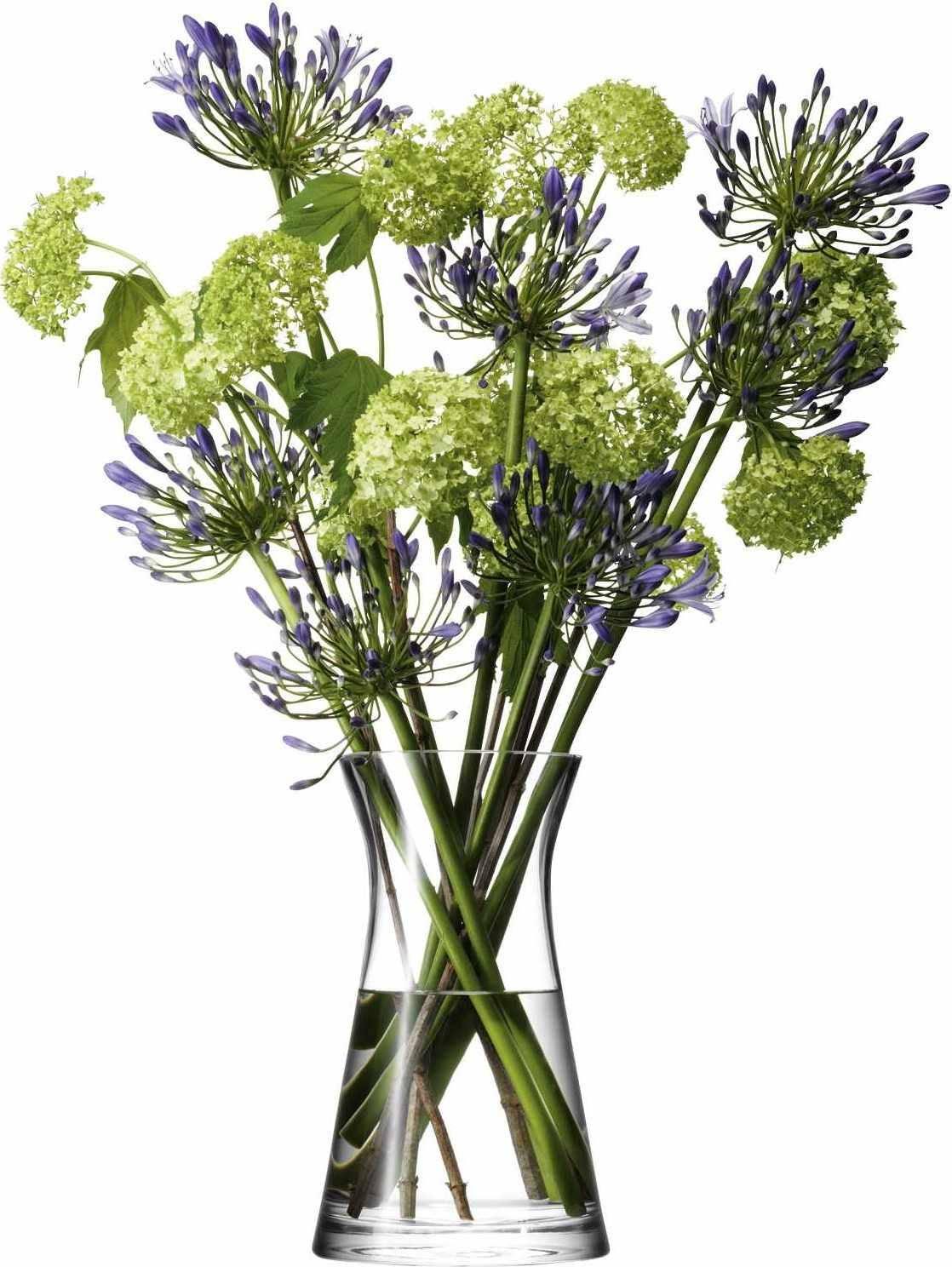 LSA Flower  skleněnáváza vysoká, 29cm, čirá, Handmade G667-29-301 LSA International