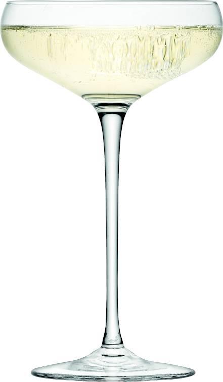 LSA Wine sklenice na sekt miska 300ml, Set 4ks, Handmade G730-11-991 LSA International