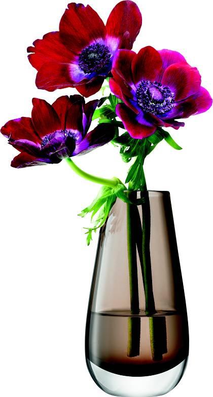 LSA Flower  skleněná váza malá, 14cm, mocha, Handmade G732-14-552 LSA International