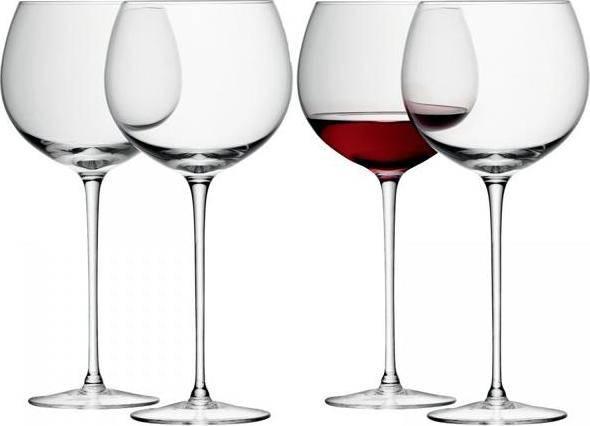 LSA Wine sklenice na víno baloon 570ml, Set 4ks, Handmade G867-20-301 LSA International