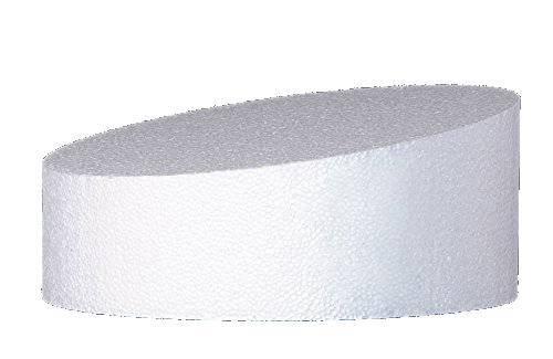 Polystyrenová maketa na šikmý dort 20x10cm - Decora
