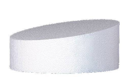 Polystyrenová maketa na šikmý dort 25x10cm - Decora