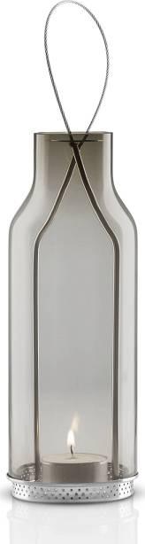 Lampa skleněná, závěsná, kouřově šedé sklo, výška 20 cm, 571343 eva solo