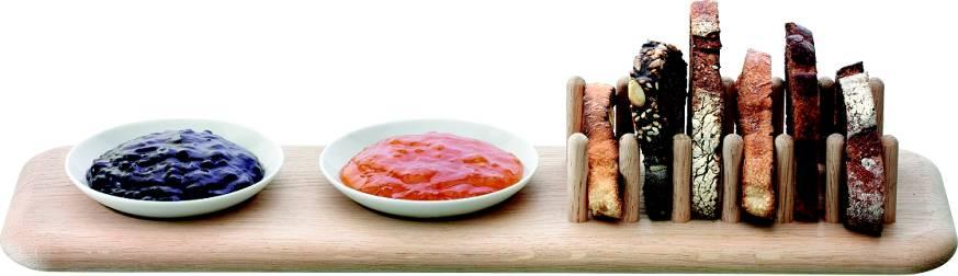 LSA Dine dubový stojánek na toasty a 2 misky P217-00-997 LSA International