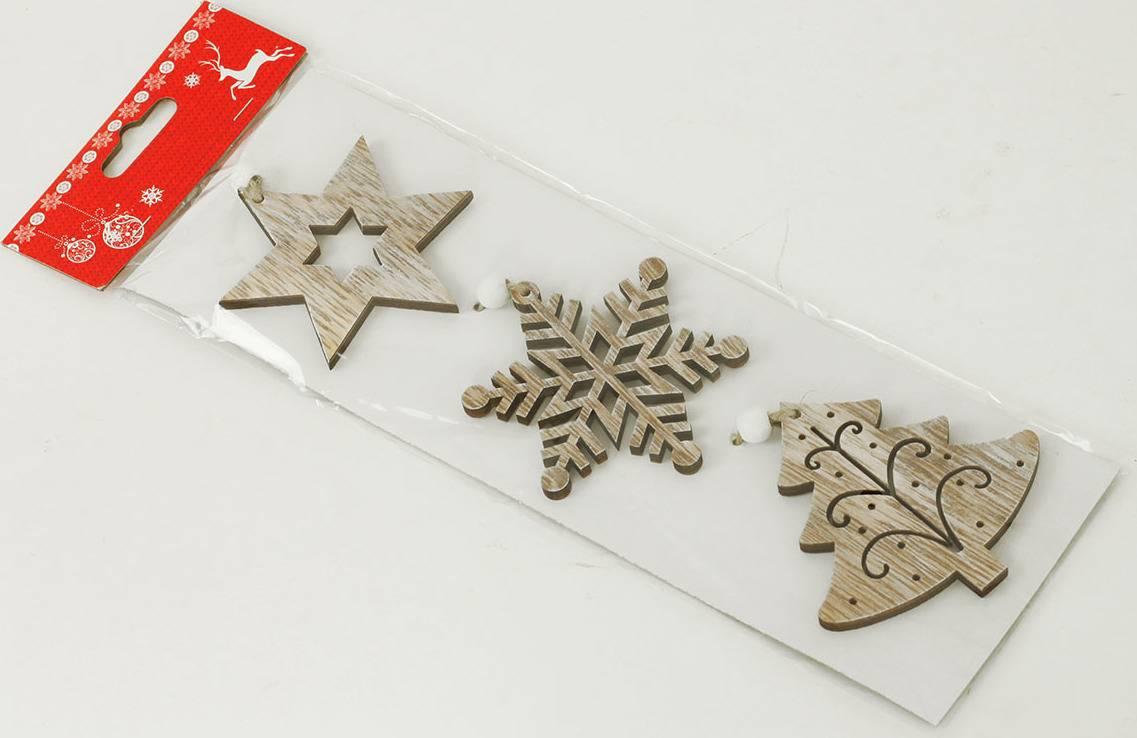 Vánoční dřevěná dekorace na zavěšení AC797201 Art