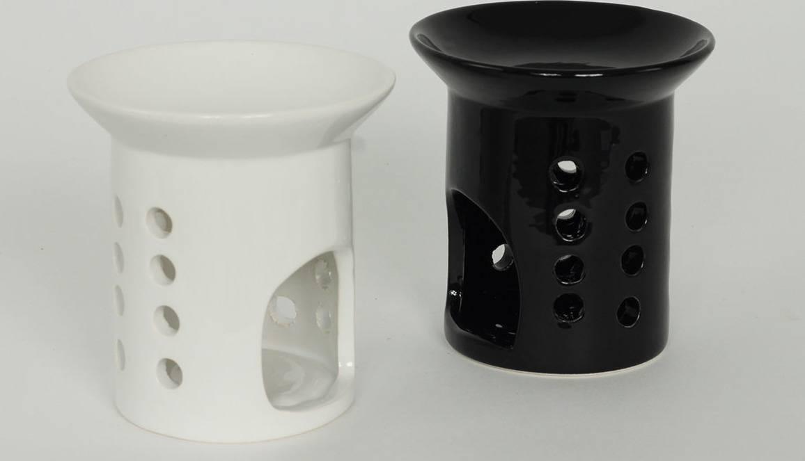 Aroma lampa keramická, mix barev,  bílá, černá ARL011 Art