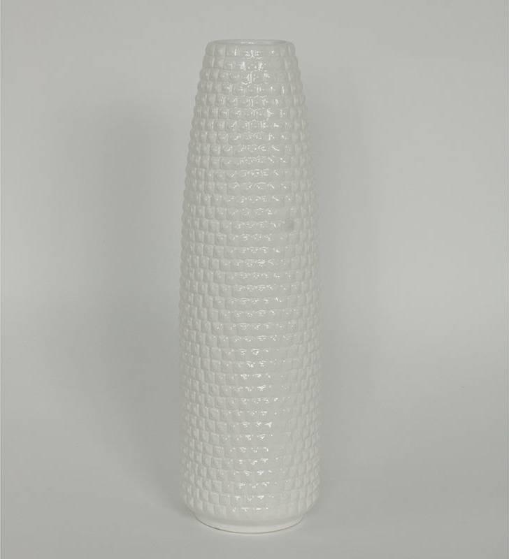 Váza keramická, barva bílá ARL022-WH Art