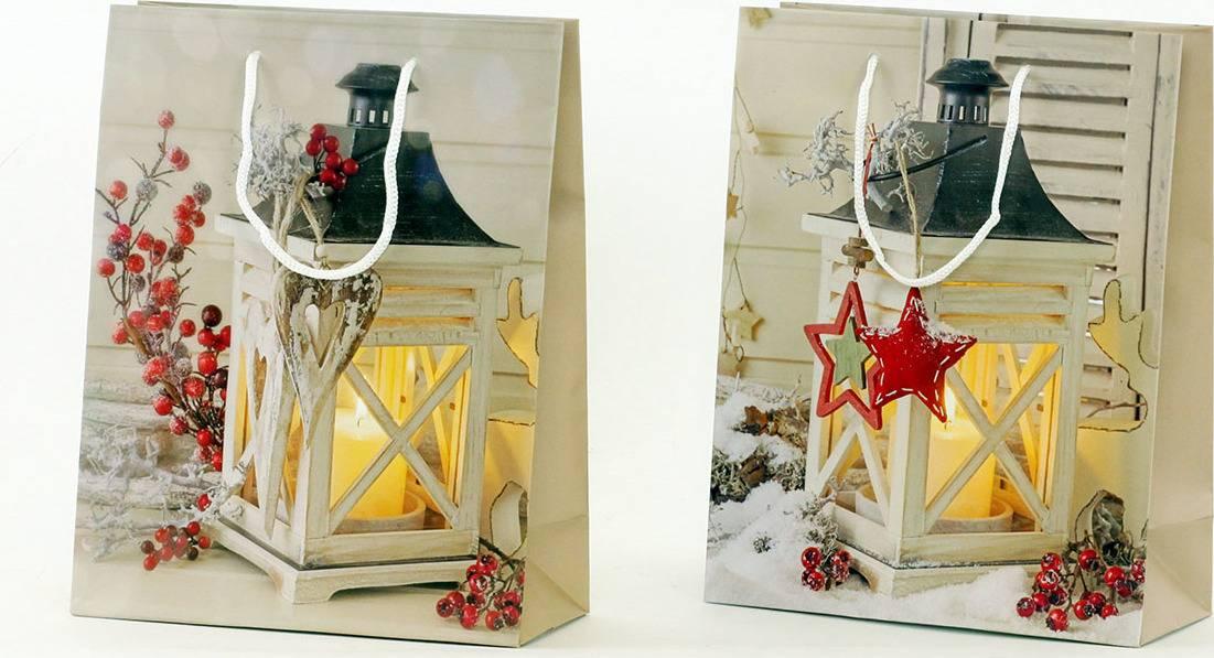 Papírová taška střední, vánoční motiv AUT115-ST Art