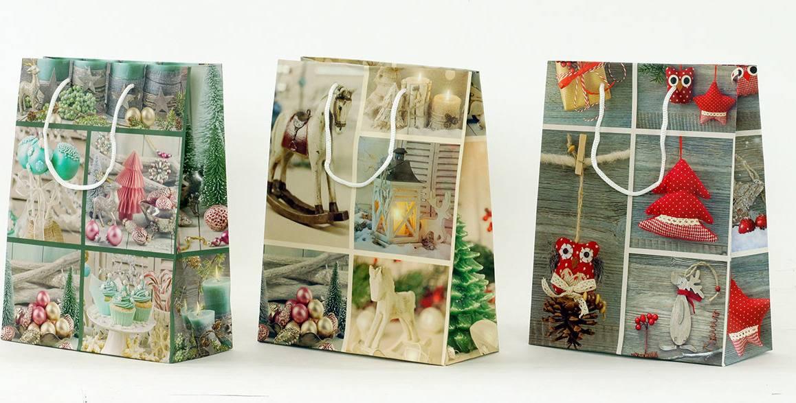 Taška dárková papírová, střední , vánoční motiv AUT116-ST Art