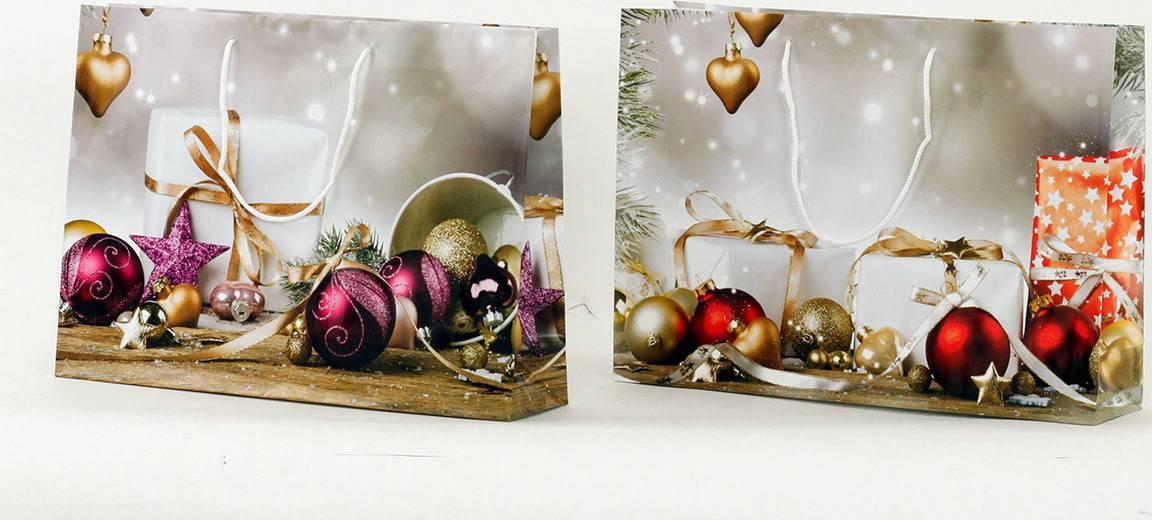 Taška dárková papírová, velká, vánoční motiv AUT118-VL Art