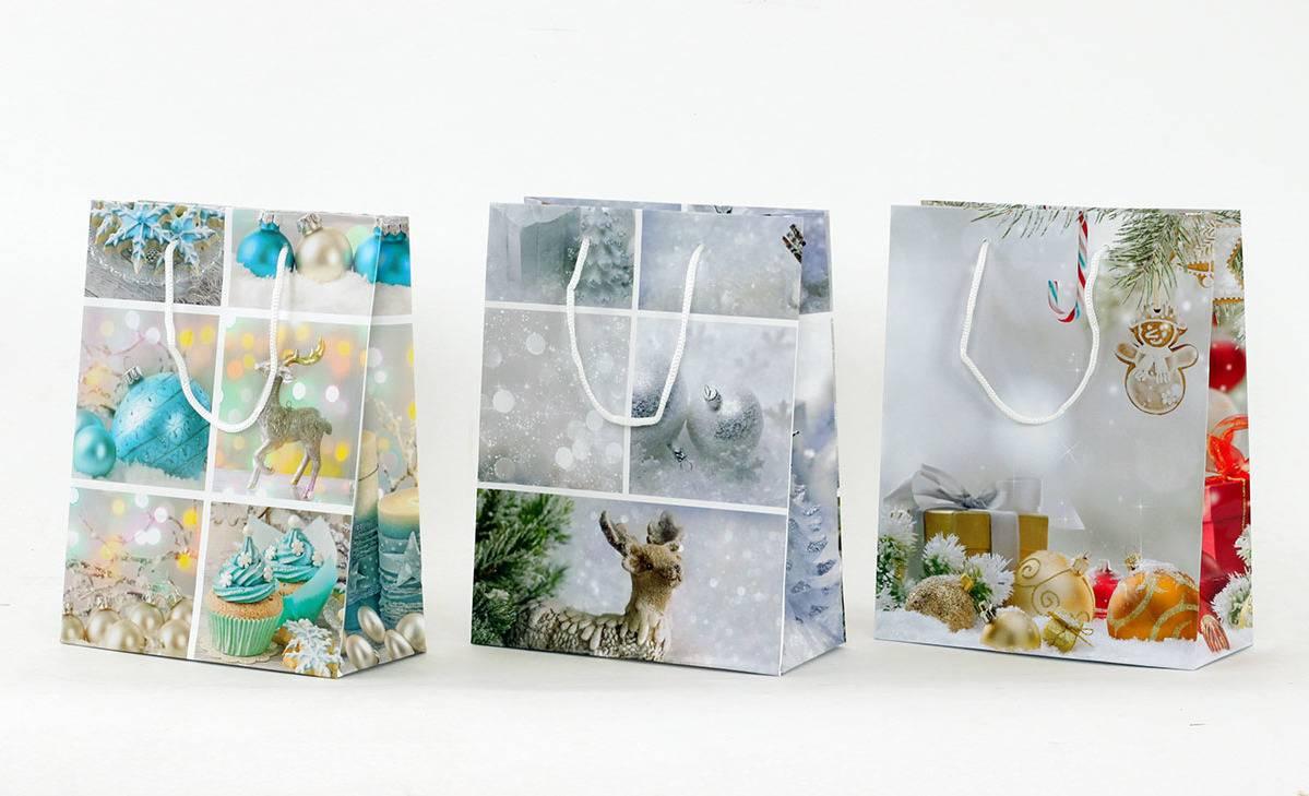 Taška dárková papírová, střední, vánoční motiv AUT124-ST Art