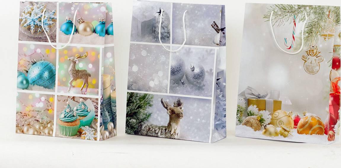 Taška dárková papírová, velká, vánoční motiv AUT124-V Art