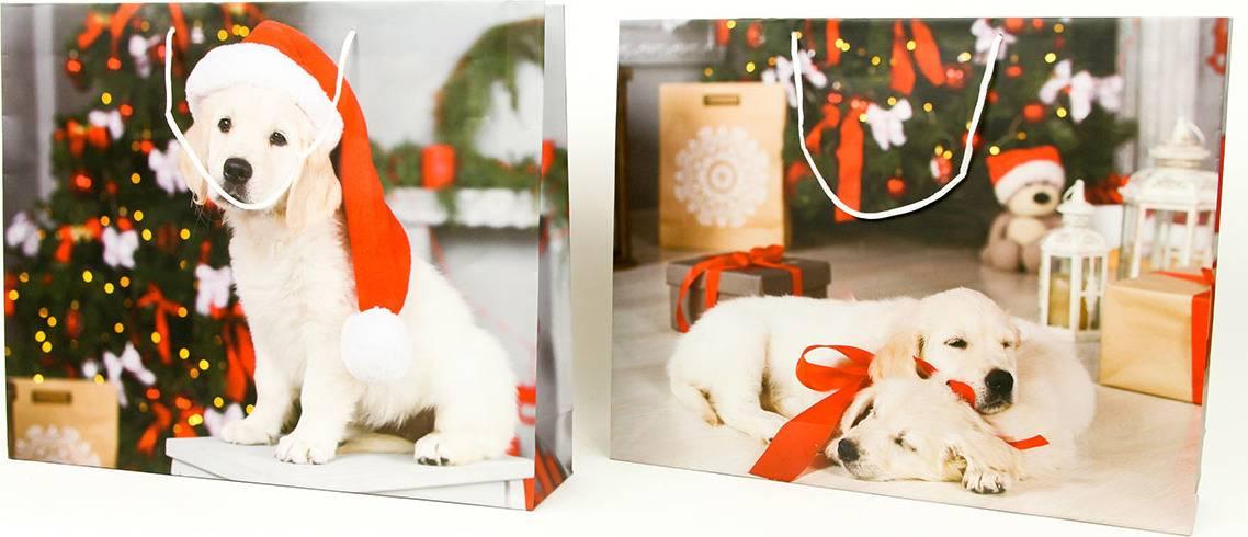 Taška dárková papírová XLL, vánoční motivy, mix dvou dekorů AUT136-XLL Art