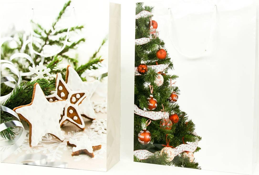 Taška dárková papírová velká, vánoční motivy, mix dvou dekorů AUT139-V Art