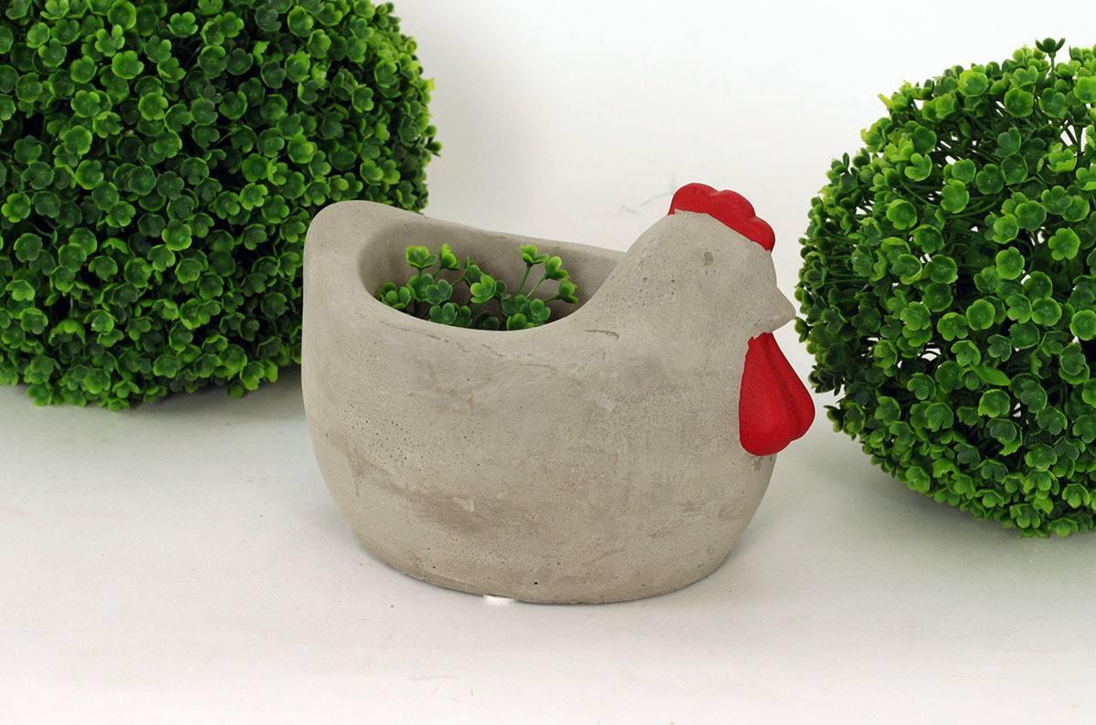 Obal ve tvaru slepice, betonová dekorace BCO779337 Art