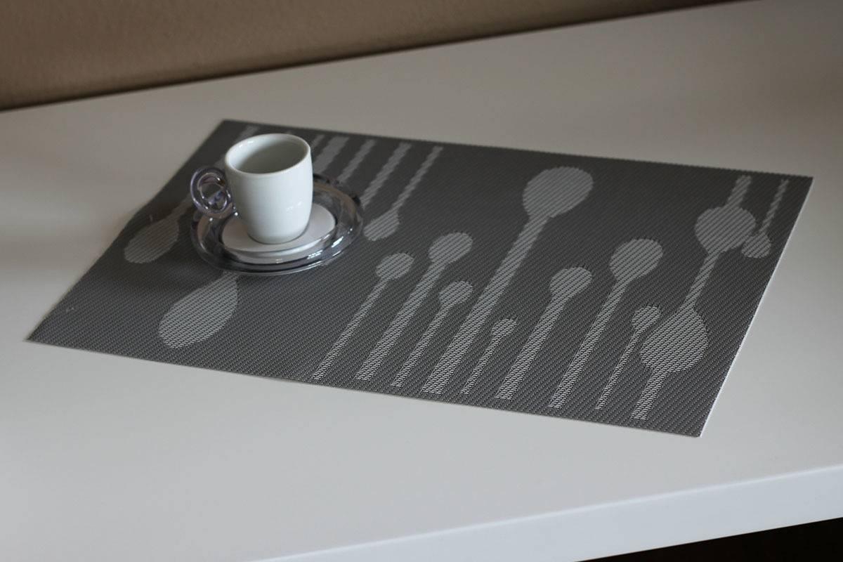 Prostírání plastové - šedivé s dekorem DK5003 Art