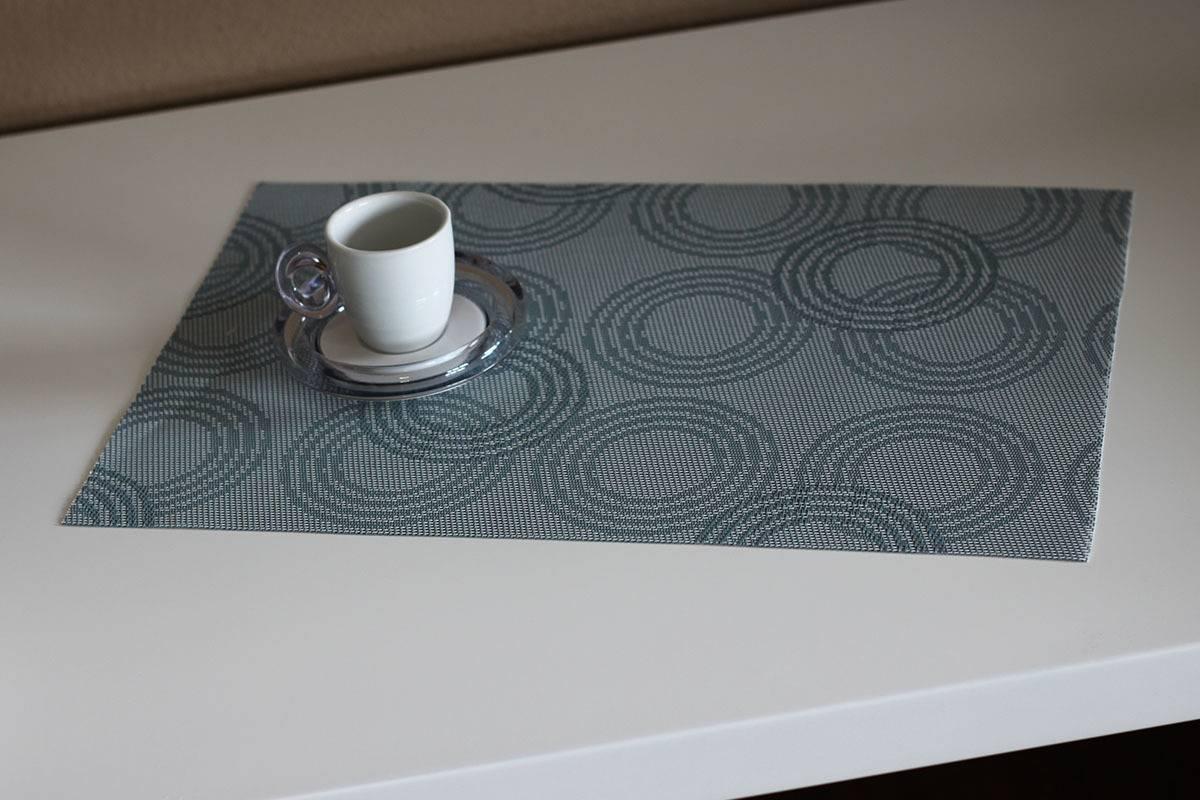 Prostírání plastové - šedo - modré s kruhy DK5005 Art