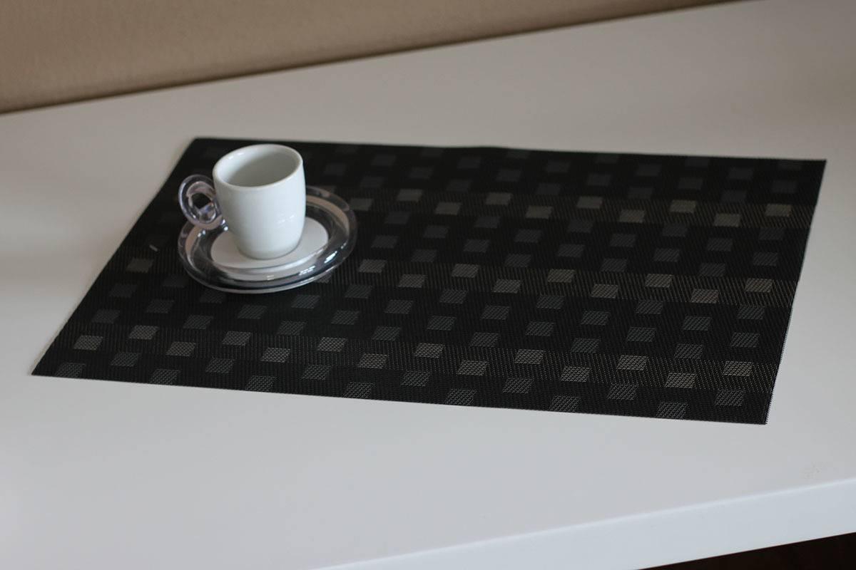 Prostírání plastové - černo-šedivé DK5006 Art