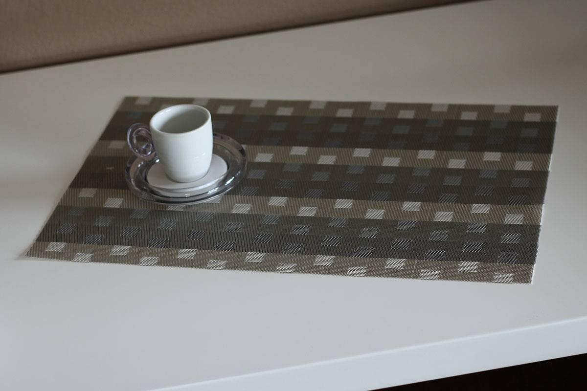 Prostírání plastové - šedivo-béžové DK5007 Art
