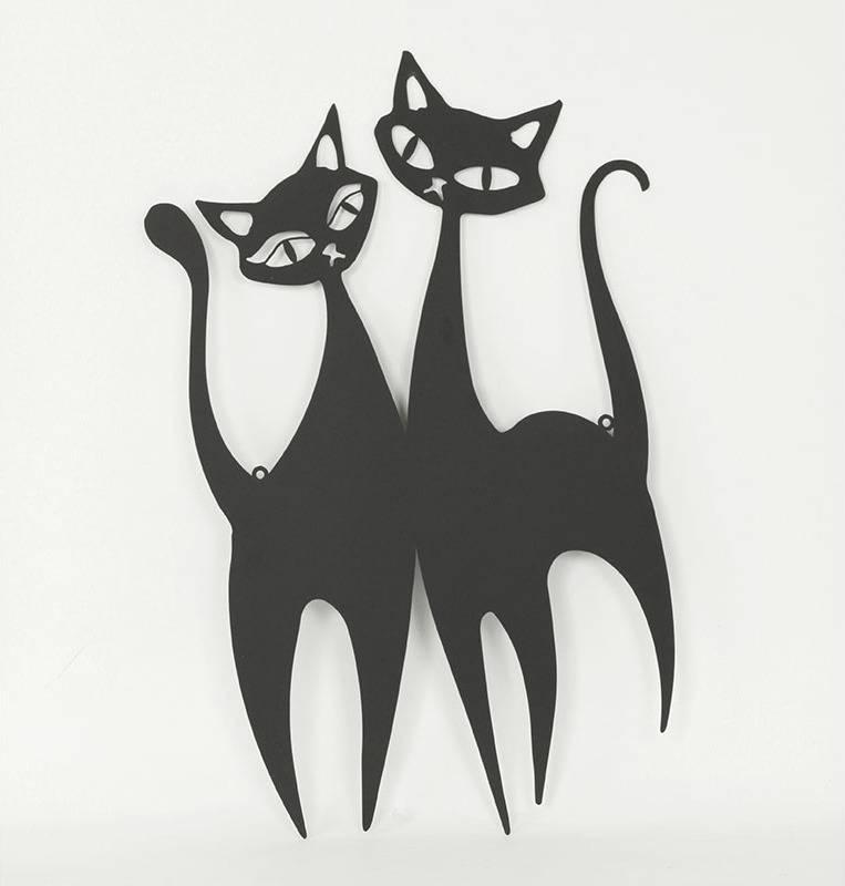 Nástěnný kovový obraz - kočka HO768287 Art