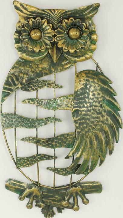 Nástěnná kovová dekorace - sova J7166019 Art