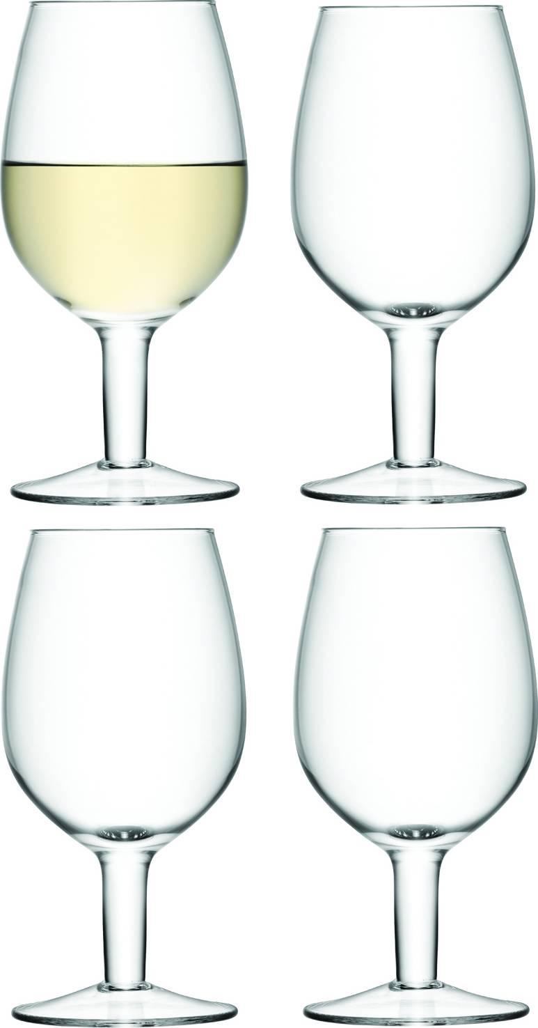 LSA WINE CASUAL, sklenice na víno 425 ml,set 4ks, čiré, Handmade G1007-16-301 LSA International
